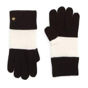 Kate Spade Colorblock Knit Gloves